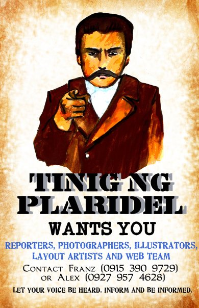 Tinig ng Plaridel Wants You