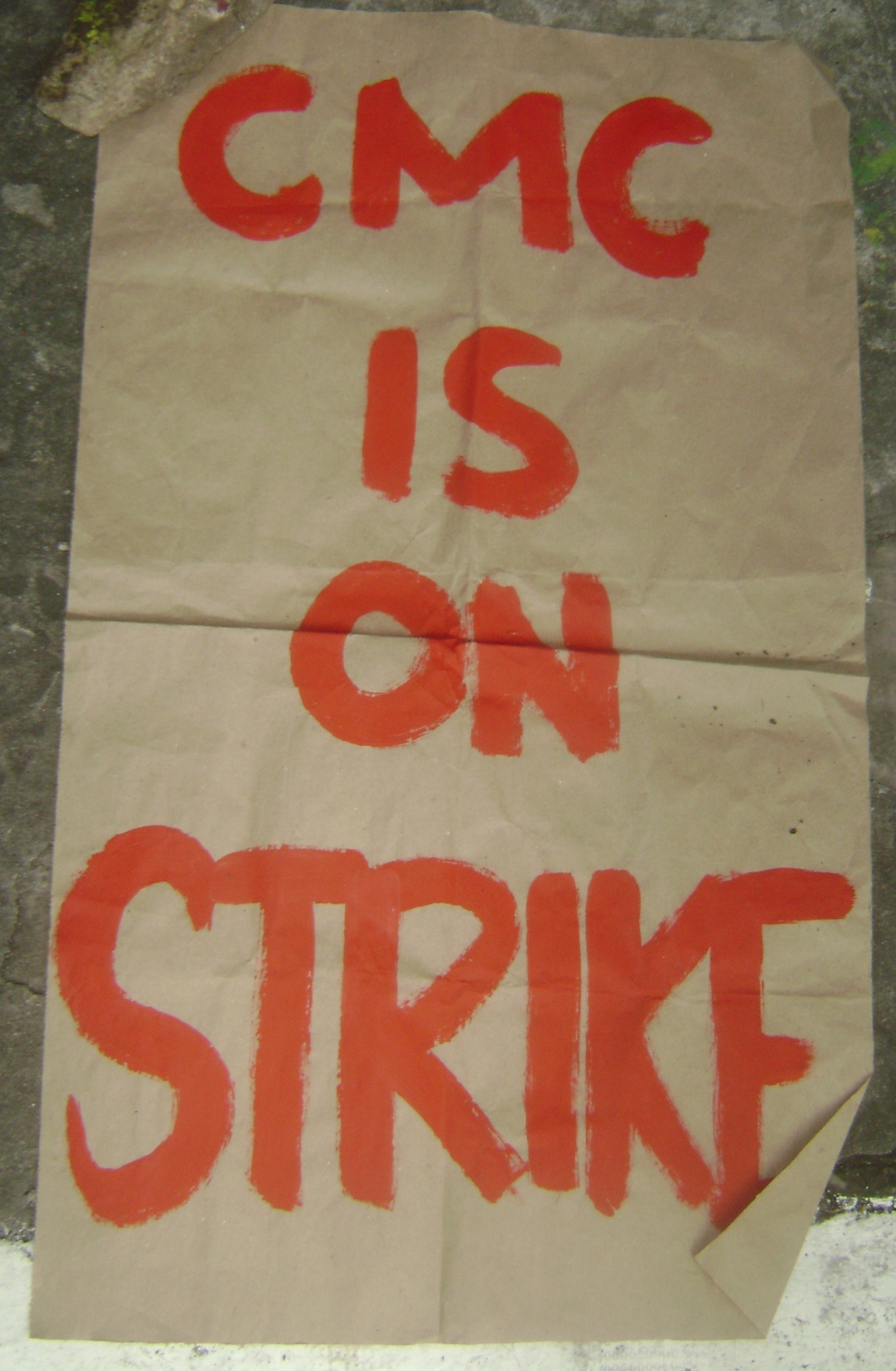 CMC on strike: Form 5 copies lit as students protest UP budget cut