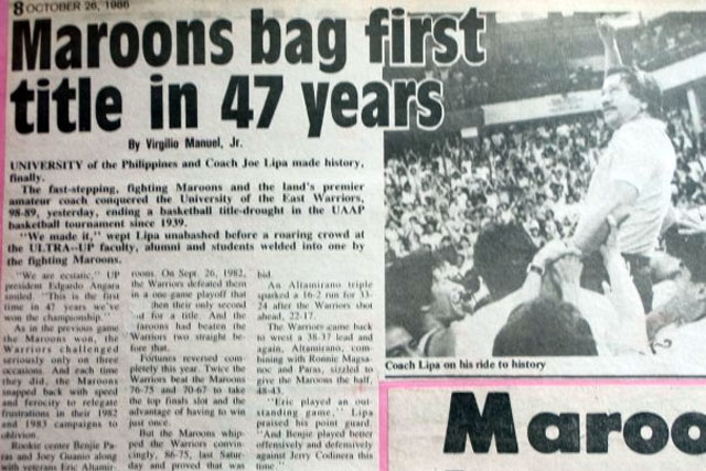 Oral history of the 1986 UP Fighting Maroons championship (Part 2)