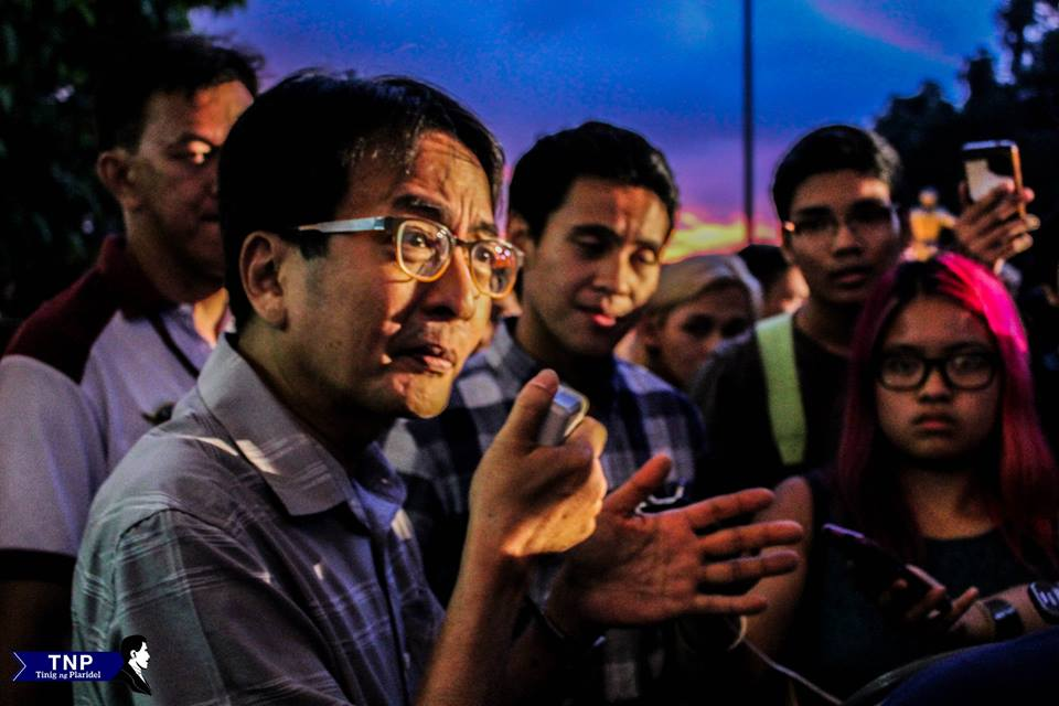 Chancellor Michael Tan had a dialogue with students, Thursday. Photo by Allan Yves Briones