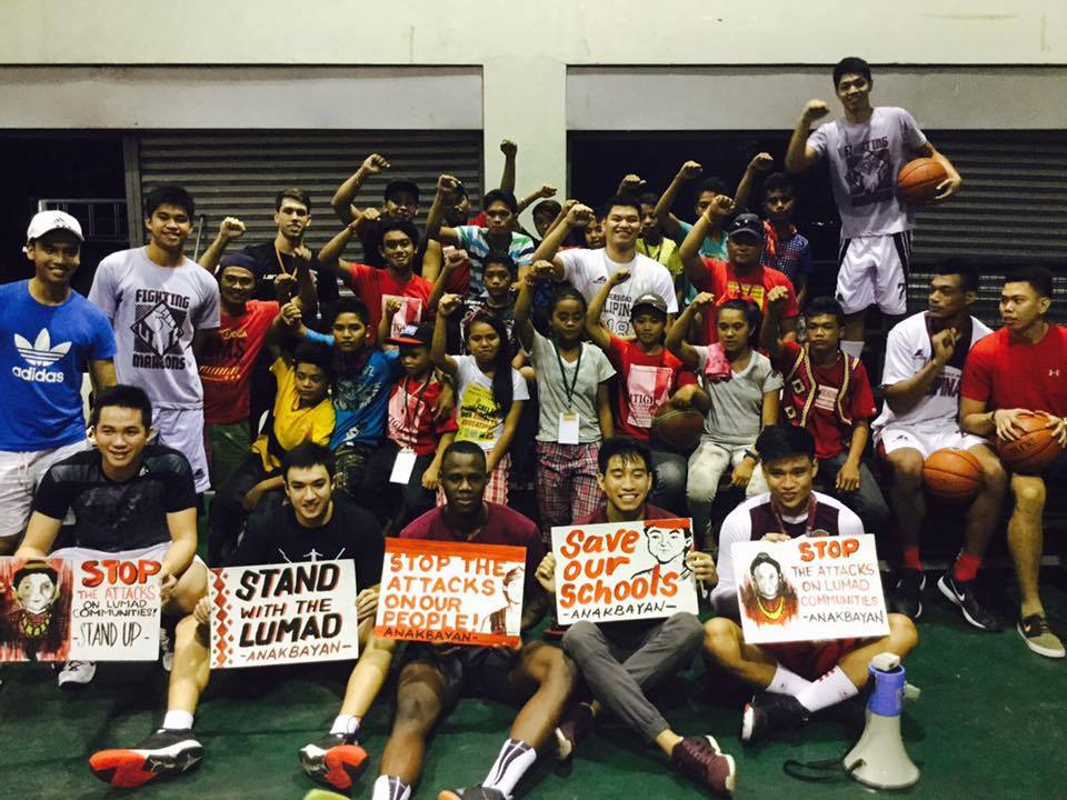 UP Fighting Maroons hold basketball clinic for Lumad children