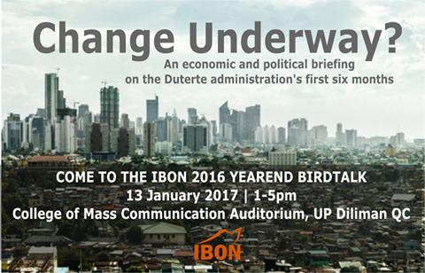 IBON: Duterte's economic plans geared towards neoliberalism