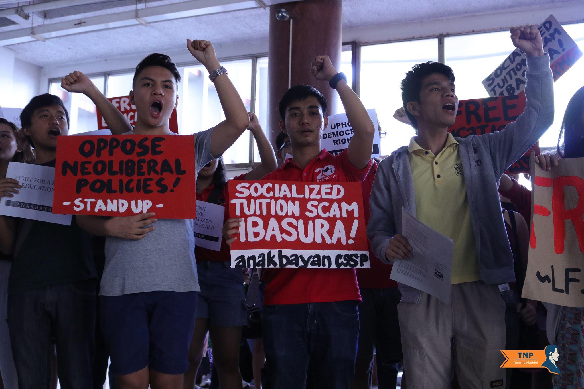 Student groups slam Duterte admin's 'false promise' of free education